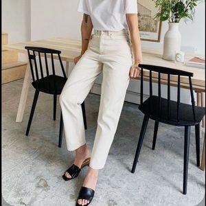 NWOT ba&sh DARIA button fly straight leg jeans
